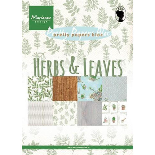 Marianne D Paper pad Herbs & leaves A5 PK9152 (02-18)