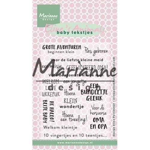 Marianne D Stempel Eline`s baby tekstjes (NL) EC0171 (02-18)