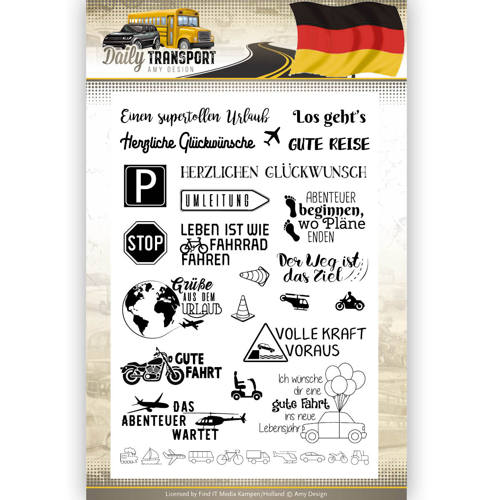 Clearstamp Text - Amy Design - Daily Transport Deutsch