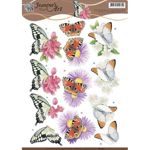 3D knipvel Jeanine`s Art - Butterflies