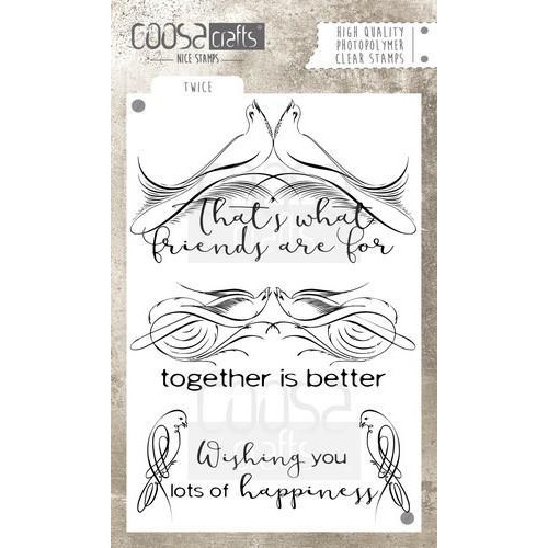 Coosa crafts clearstamps A6 -Twice A6 (Eng) COC-031
