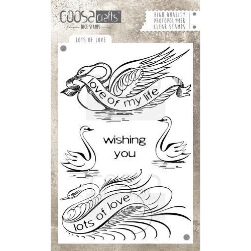 Coosa crafts clearstamps A6 -Lots of love A6 (Eng) COC-032