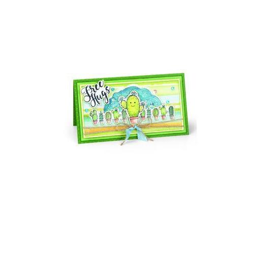 Sizzix Framelits Die Set 3PK w/stamps Sending Hugs 662682  Jen Long