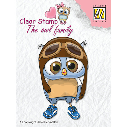"""Clear Stamps The owl Family """"pilot"""""""