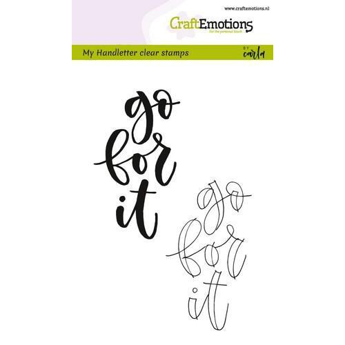 CraftEmotions clearstamps A6 -  handletter - go for it (Eng) (02-18)