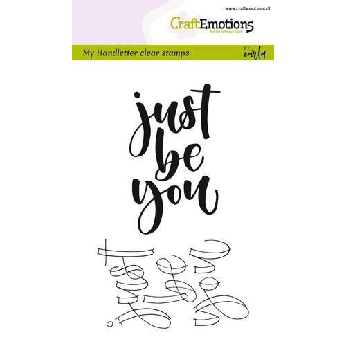 CraftEmotions clearstamps A6 -  handletter - just be you (Eng) (02-18)