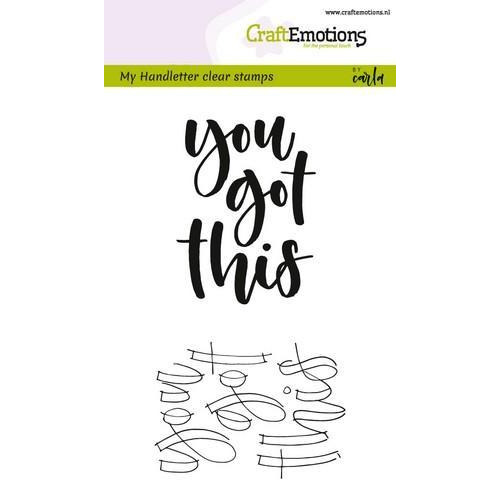 CraftEmotions clearstamps A6 -  handletter - you got this (Eng) (02-18)
