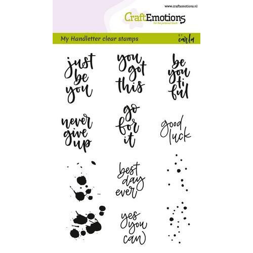 CraftEmotions clearstamps A6 -  handletter Sm - diverse (Eng) (02-18)