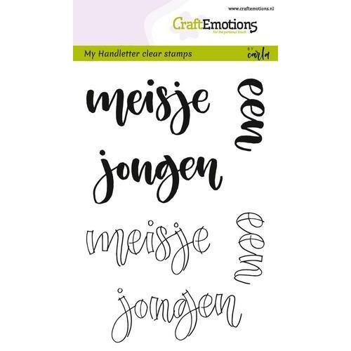 CraftEmotions clearstamps A6 -  handletter - meisje jongen (NL) (02-18)