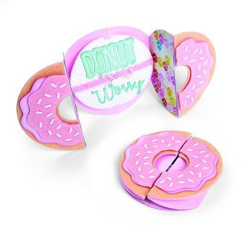 Sizzix Thinlits Die Set 9PK Card Donut Fold-a-Long 662725 Jen Long (02-18)