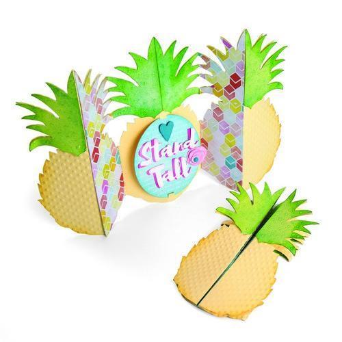 Sizzix Framelits Die Set 2PK w//Stamps Sunny Pineapple 662933 Katelyn Lizardi