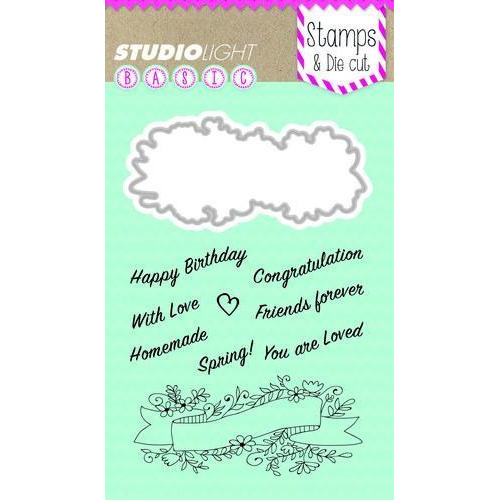 Studio Light Stamp & Die Cut A6 Basics nr 12 BASICSDC12 (02-18)
