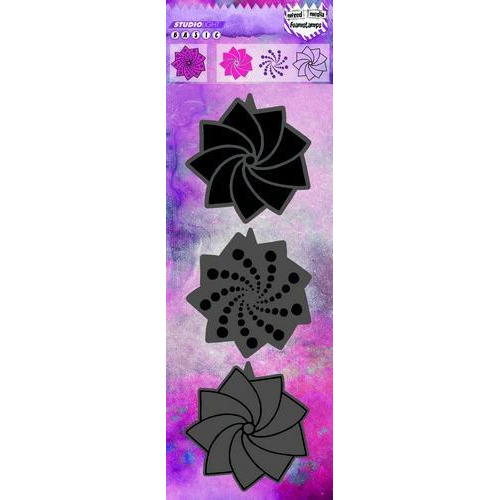 Studio Light Laser foam stamps (3 in 1) Mixed Media nr 13 FOAMSL13 (02-18)
