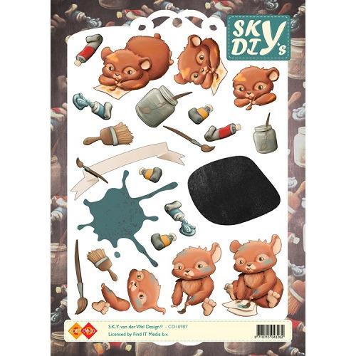 3D Knipvel - Sky - Hamsters