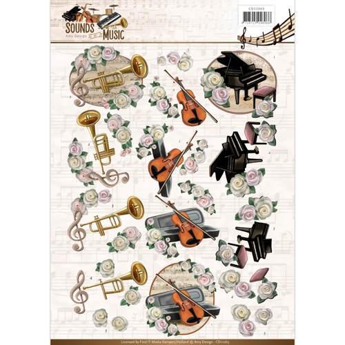 3D Knipvel - Amy Design - Sounds of Music - Classic