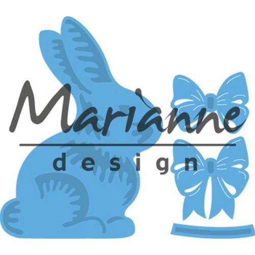 Marianne D Creatable Easter bunny with bow LR0519 (03-18)