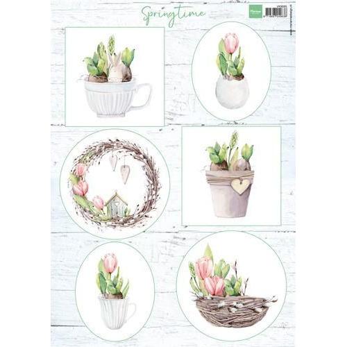 Marianne D 3D Knipvellen Tulips & willow cats VK9565 A4 (03-18)