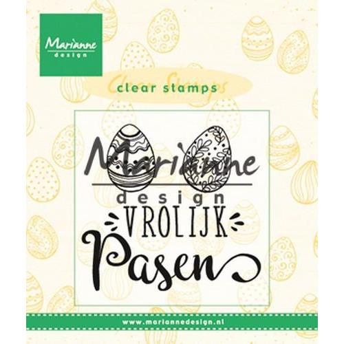 Marianne D Clear Stamp Vrolijk Pasen (NL) CS1001 (03-18)