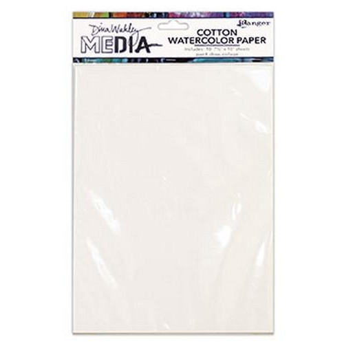 Ranger Media Cotton Watercolor Paper Pack MDJ59646 Dina Wakley