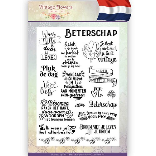 Clearstamp - Jeanine`s Art - Vintage Flowers NL