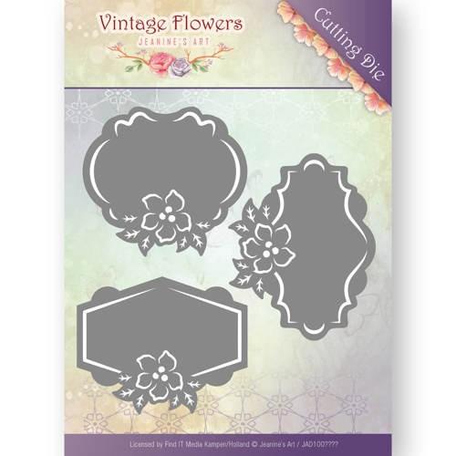 Dies - Jeanine`s Art - Vintage Flowers - Floral Labels