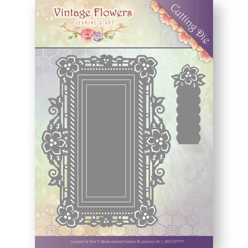 Dies - Jeanine`s Art - Vintage Flowers - Floral Rectangle
