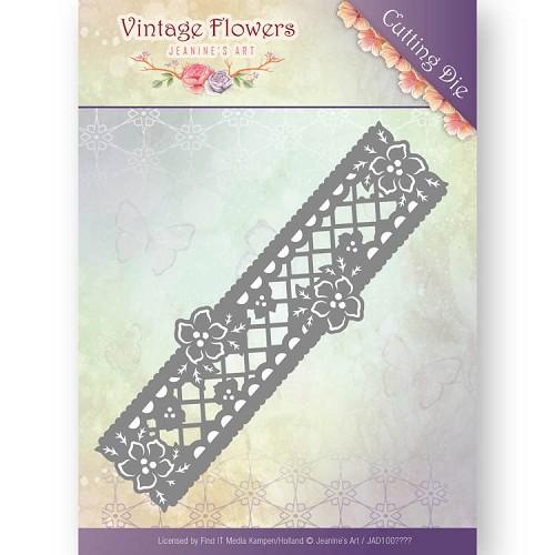 Dies - Jeanine`s Art - Vintage Flowers - Floral Border
