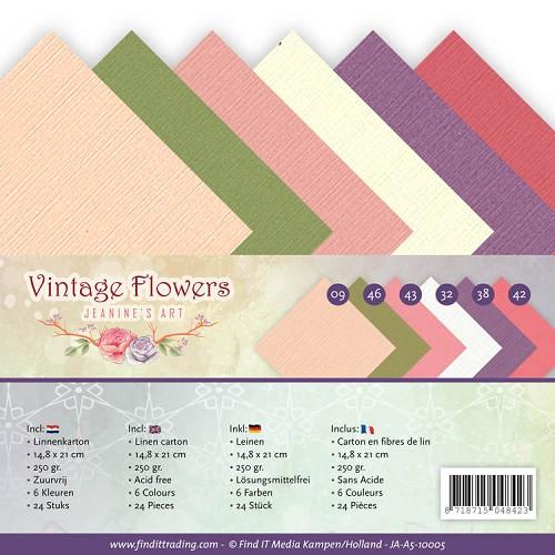 Linnenpakket - A5 - Jeanine's Art - Vintage Flowers