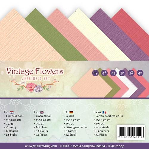 Linnenpakket - 4K - Jeanine`s Art - Vintage Flowers