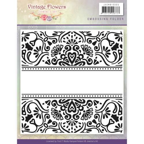 Embossingfolder - Jeanine`s Art - Vintage Flowers