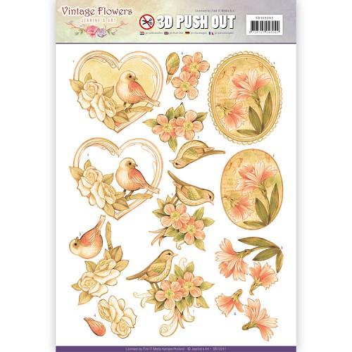 Pushout - Jeanine`s Art - Vintage Flowers - Pale Vintage