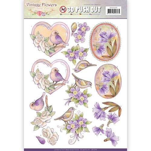Pushout - Jeanine`s Art - Vintage Flowers - Pale Violet