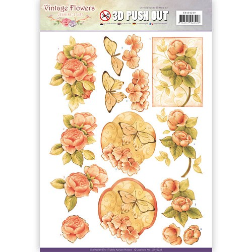 Pushout - Jeanine`s Art - Vintage Flowers - Sweetheart Vintage