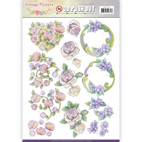 Pushout - Jeanine`s Art - Vintage Flowers - Romantic Purple