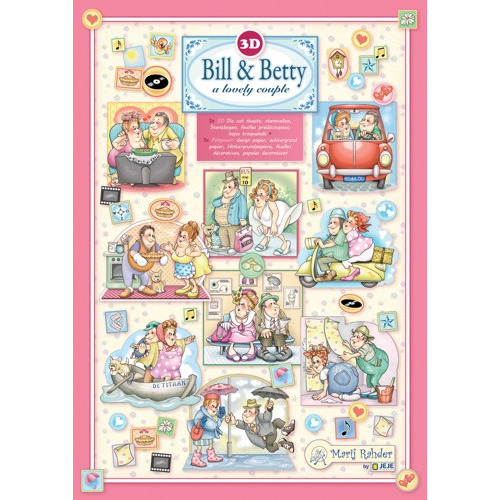 MRJ set Bill &Betty 3x 3D Die cut A4 sheet + 3x Potpourri sheets