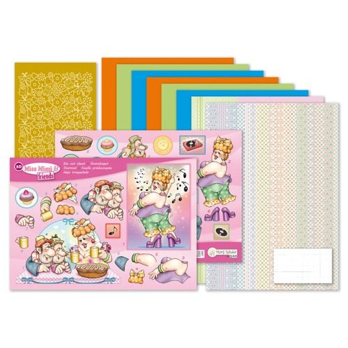 MRJ set Miss Mimi & friends A5 Set for 3 complete cards