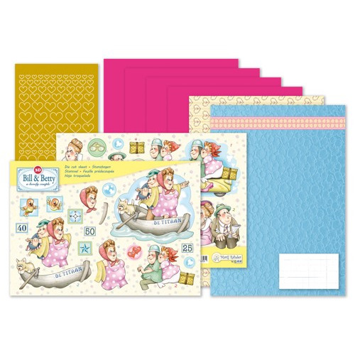MRJ set Bill & Betty A5 Set for 3 complete cards