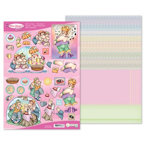 MRJ 3D Die cut sheet Miss Mimi & friends + 1 potpourri sheet