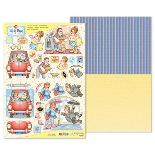 MRJ 3D Die cut sheet Bill & Betty + 1 potpourri sheet