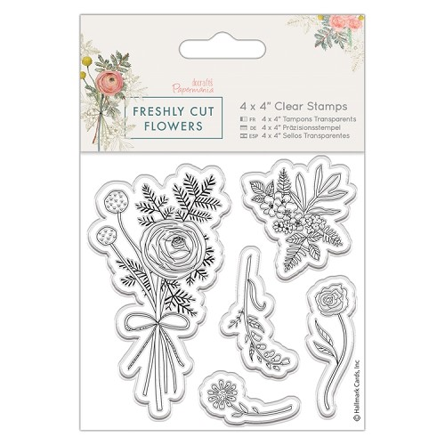 "4 x 4"" Clear Stamp - Freshly Cut Flowers - Posey"