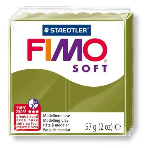 Fimo Soft olijfgroen 57GR 8020-57