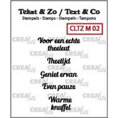 Crealies Clearstamp Tekst & Zo Mini tekst thee A (NL) CLTZM02 / (03-18)