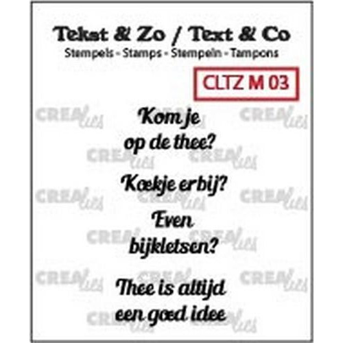 Crealies Clearstamp Tekst & Zo Mini tekst thee B (NL) CLTZM03 / (03-18)