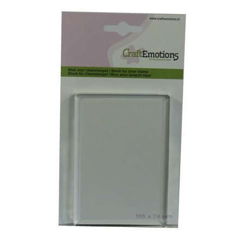 CraftEmotions blok voor clearstempel 105x74mm - 8mm