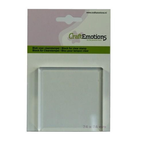 CraftEmotions blok voor clearstempel 74x74mm - 8mm