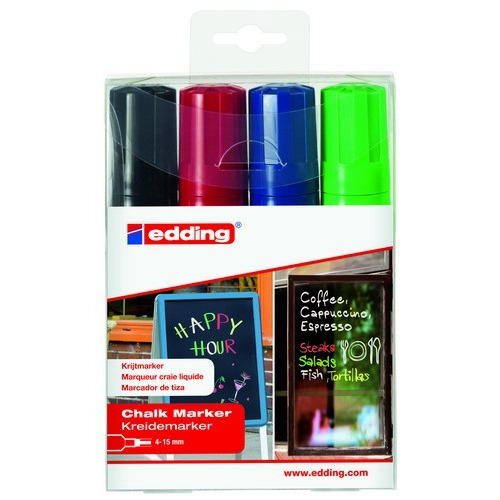 edding-4090 ass. kalk window marker 1,2,3,11 4ST 4-15 mm / 4-4090-4999