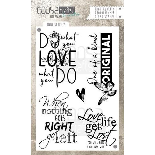 COOSA Crafts clearstamps A6 - Mini`s set 2 (Eng) COC-028