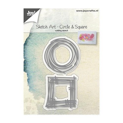 Sketch Art - Circle & Square,46x44 / 42x40 mm