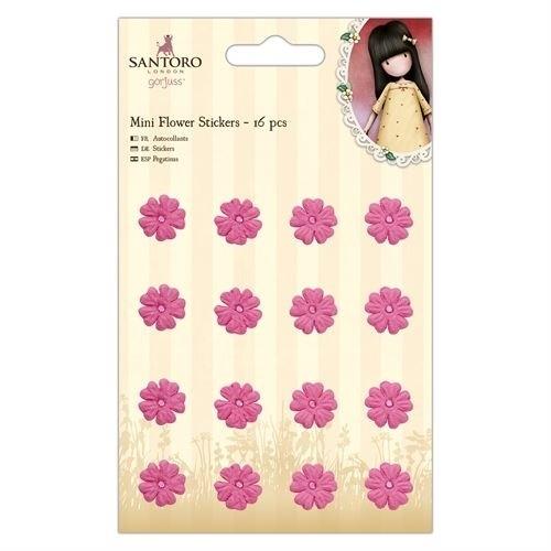 Mini Flower Stickers (16pcs) - Santoro