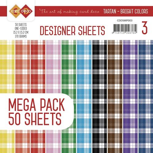 Designer Sheets Mega Pack 3 - Tartan - Bright Colors